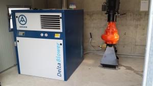 Soffiante e pompa per fase di miscelazione e ossigenazione.