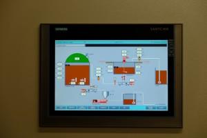 Touch screen per quadro di controllo e comando.